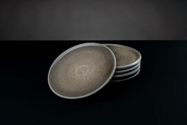 Brot-Teller flach «Stein»