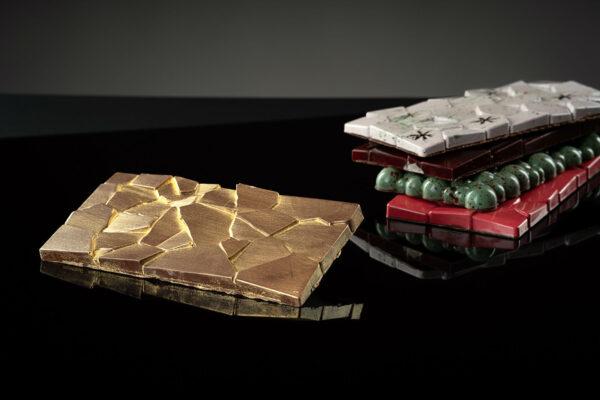 Schokoladen-Tafel golden:Salzkaramell «Grenada 38%»